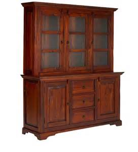 Hutch cabinet in colonial maple finish with mudramark hutch cabinet in