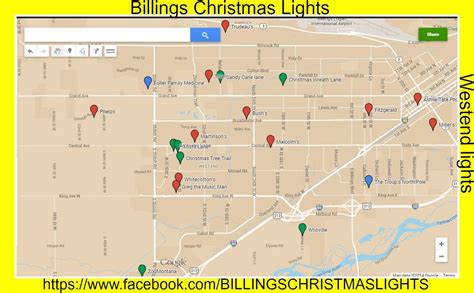 facebook page maps best billings christmas displays