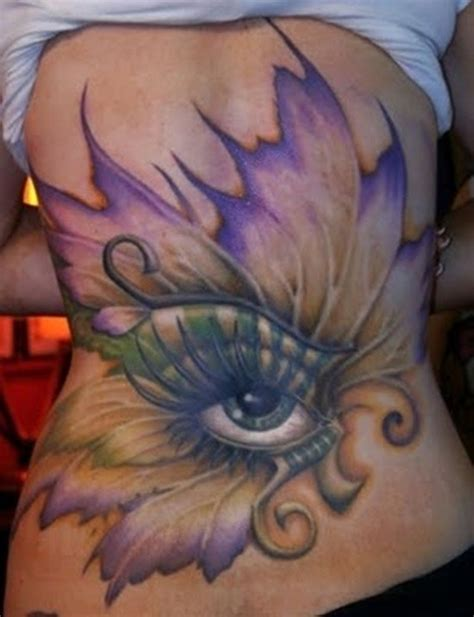 tattoo butterfly with eyes cool designed big eye with butterfly wings tattoo on back
