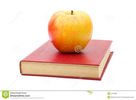 apple picture book book and apple royalty free stock photos image 4415058