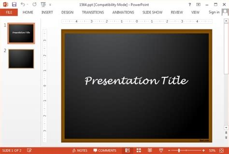Download Chalkboard Ppt Theme Chalkboard Powerpoint Template Free