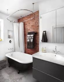 Industrial Style Bathroom Accessories Rugged And Ravishing 25 Bathrooms With Brick Walls