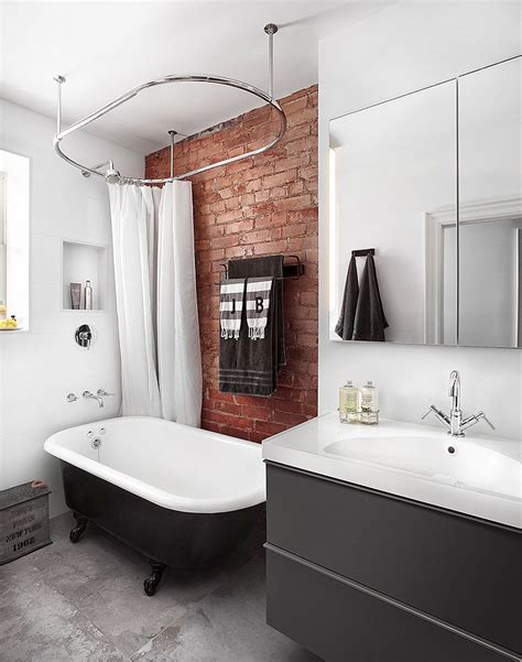 stylish bathroom rugged and ravishing 25 bathrooms with brick walls