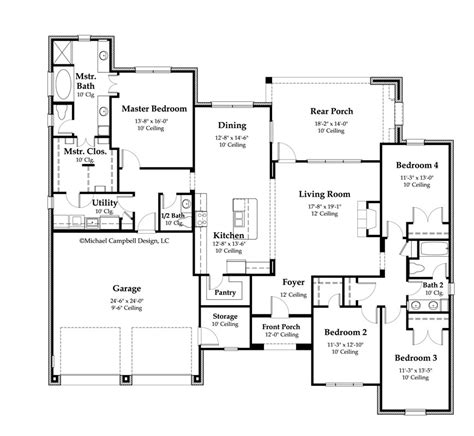 floor plans 2000 square house plan 2370 square country home style