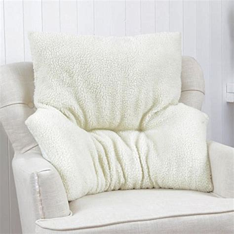 armchair cushion support cradle lumar back support fleece cushion comfort armchair
