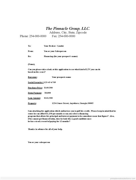 Mortgage Broker Letter To Realtor Printable Mortgage Broker Work For Equity
