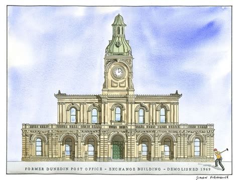 Office Exchange by Former Post Office Exchange Building Dunedin Simon