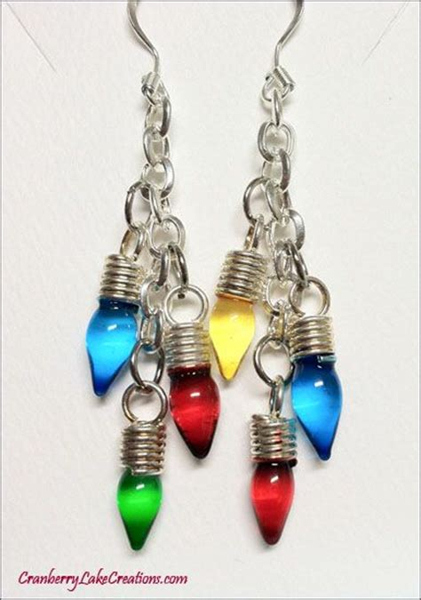 christmas light earrings google search my style