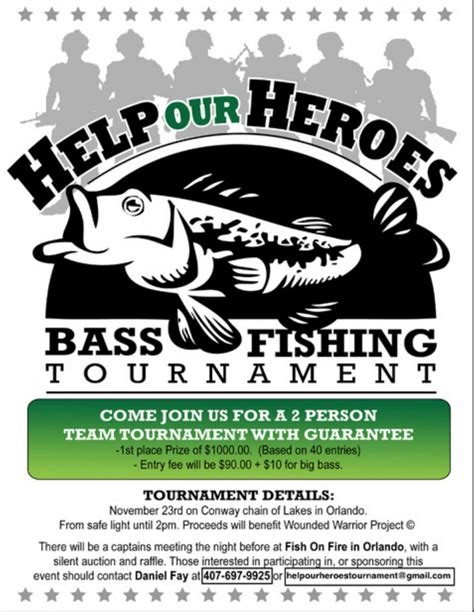 fishing tournament flyer template help our heroes tournament tournament