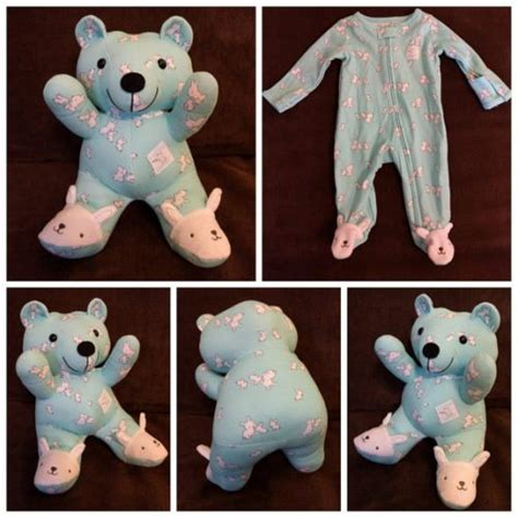 pattern for baby clothes teddy bear turn baby s clothes into keepsake memory bears simplemost