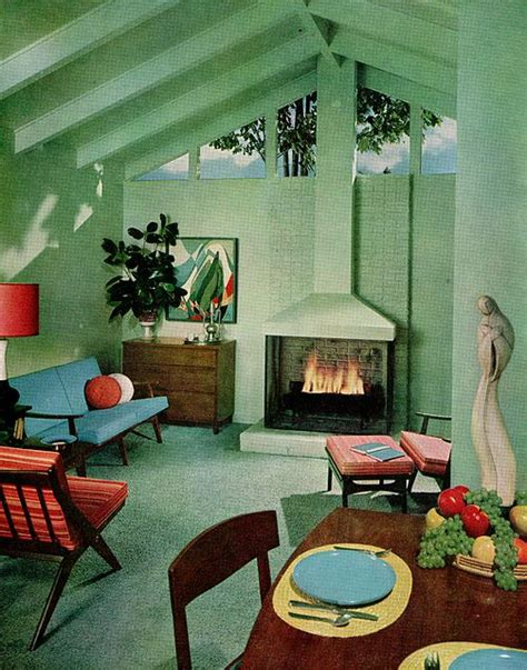 50s modern home design sherwin william home decorator 1959 50s 1950s interiors home loft livingroom dining