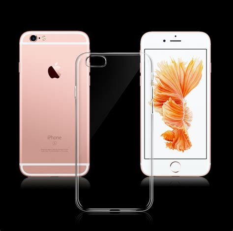 Ultra Thin Jelly Casecasing For Iphone 6plus 6s Plus ultra thin soft tpu gel original transparent for iphone 6 6s 6plus 6splus clear