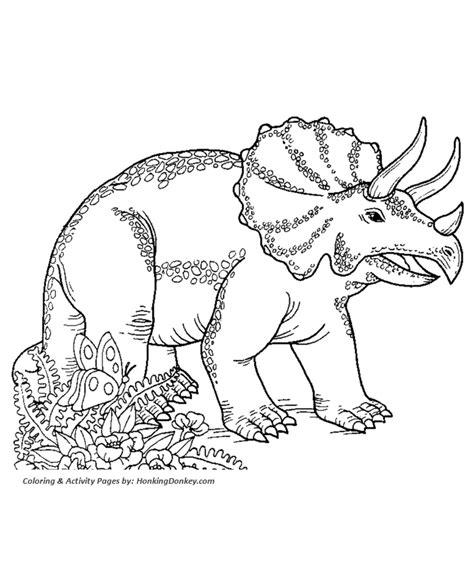 dinosaur coloring page sheet printable triceratops