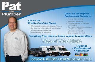 Pats Plumbing by Pat Plumbing Heating And Air Topeka Ks
