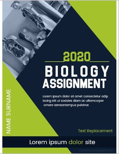 biology assignment cover page templates ms word cover
