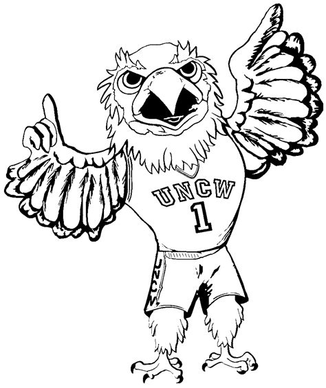 Seahawks Mascot Coloring Pages Seattle Seahawk Coloring Pages