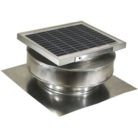 solar powered roof fan active ventilation 365 cfm mill finish 5 watt solar