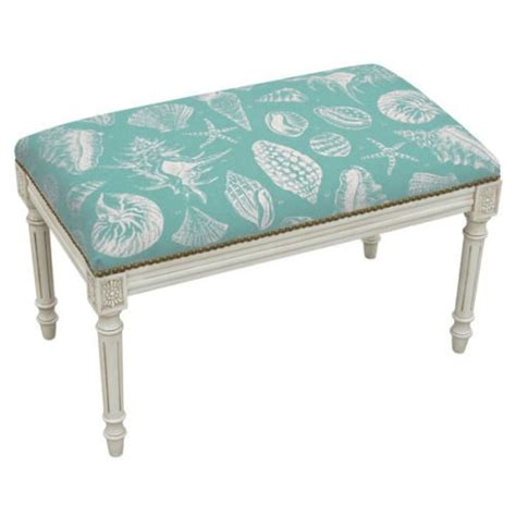 linen bench cushion product reviews buy benches seashell upholstered bench