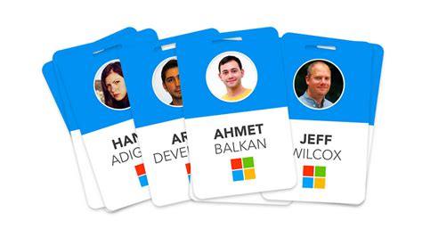id card design for mac id cards design software create someone redesigned microsoft s employee badges to make
