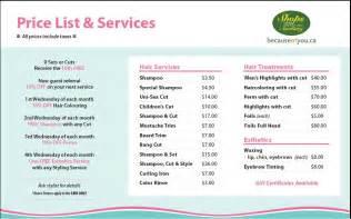 hair salons jc price list pin hair salon prices on pinterest