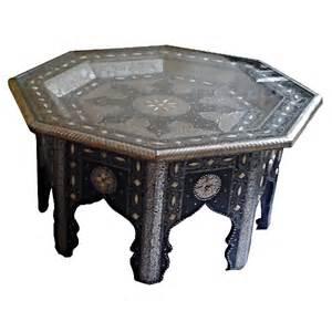 table marocaine hexagonale d 233 cor 233 e de m 233 tal et os