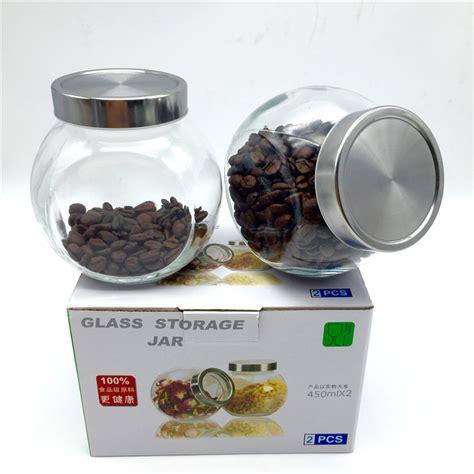 Window Seal Pots 2 Box 450ml Glass Storage Bottle Storage Tank With Lid