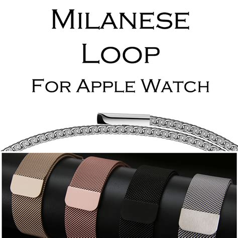 Milanese Watchband Untuk Apple Series 1 2 3 מוצר milanese loop band for apple 38 42mm series 1 2 3 stainless steel belt metal