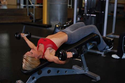 bench flyes decline dumbbell flyes exercise guide and video