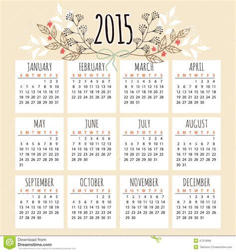 Calendrier 2015 How I Met Your Leuke Kalender 2015 Met Bloemenelementen Vector