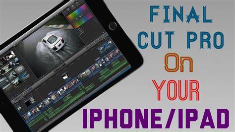 final cut pro on ipad final cut pro on your ipad youtube