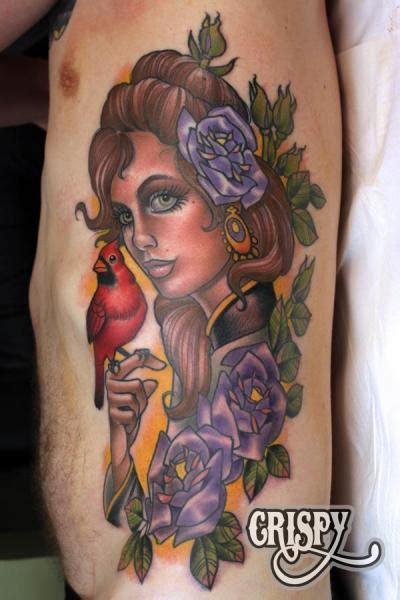 tattoo new school woman new school side women bird tattoo by third eye tattoo