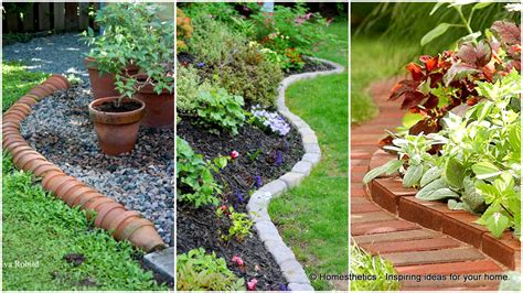 Garden Borders Edging Ideas 17 Simple And Cheap Garden Edging Ideas For Your Garden Homesthetics Inspiring Ideas For