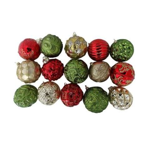 martha stewart living christmas cheer glass ornament