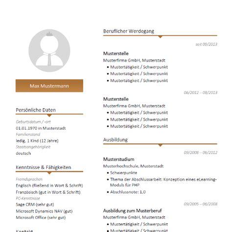 Lebenslauf Anschreiben Template Moderne Lebenslauf Vorlage Mit Braunen Farbakzenten Modern Cv Resume Template For Your
