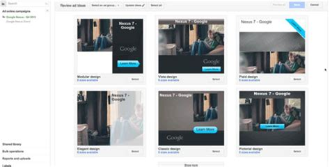 Google Adwords Introduces Ready Image Ads And Ready Ad Gallery To Create Html 5 Compatible Ads Adwords Ad Template