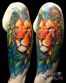 lion of another color by shanti tattoos