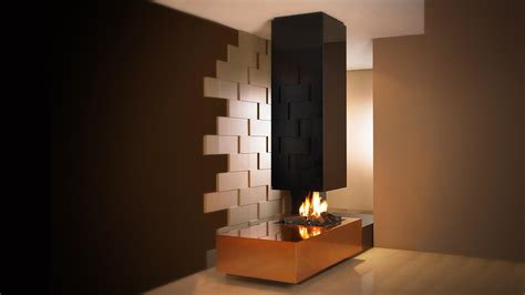Firebox Fireplace by Suspended Fireplace I Hanging Fireplace