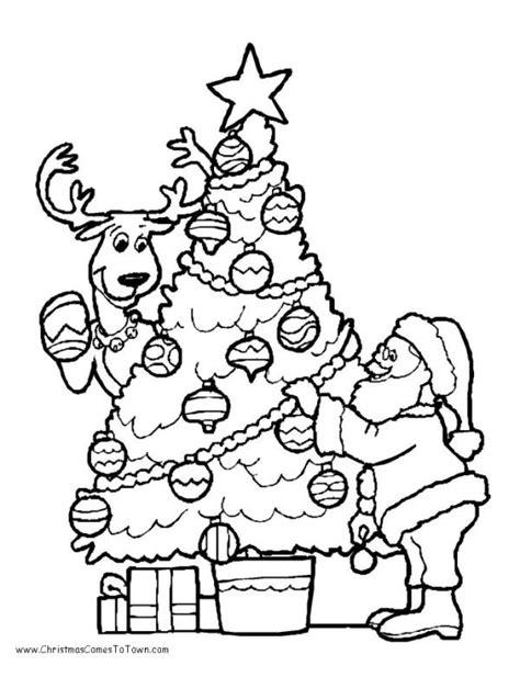 rudolph  christmas tree coloring pages santa coloring