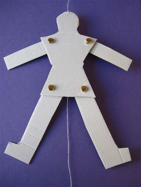 How To Make Paper Puppets - how to make a jumping puppet from cardboard and string