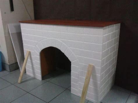 como hacer una chimenea de unicel para decorar el hogar realizando una chimenea todo con telgopor hecho por mi