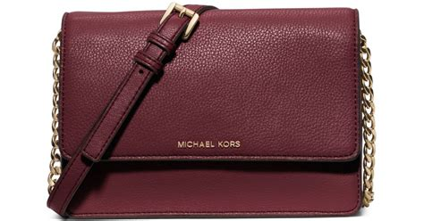 Michael Kors Small Merlot michael kors daniela small leather crossbody in purple merlot lyst