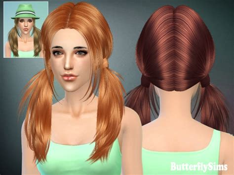 pigtails hair sims 4 sims 3 custom content male hair free 4 pigtails sims hair