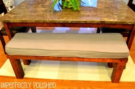 bench seat cushions diy home tour kitchen
