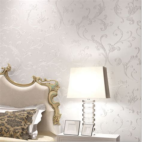 classy bedroom wallpaper europe elegant acanthus leaf non woven wallpaper wall decor simple wallpapers papel de