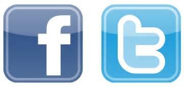 logo twitter facebook