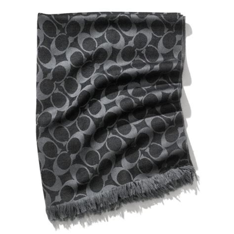 couch scarf snap n zip fashion accessories coach signature wrap