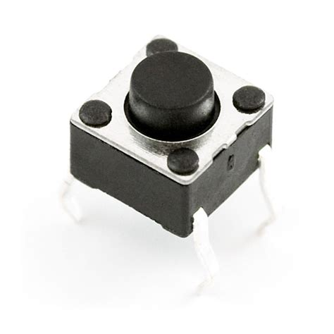 Tactile Button 43mm Push On momentary push button tactile switch mini 6mm square 4 legs in canada robotix
