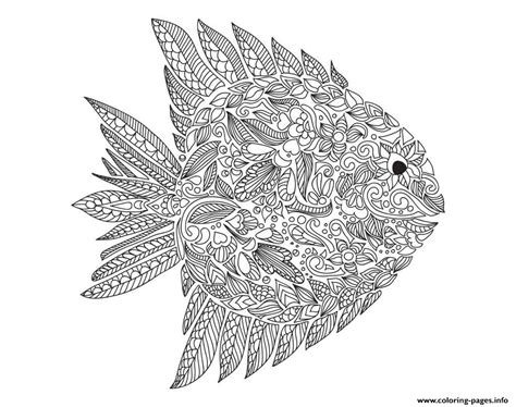 coloring pages for adults fish zentangle fish by artnataliia coloring pages printable