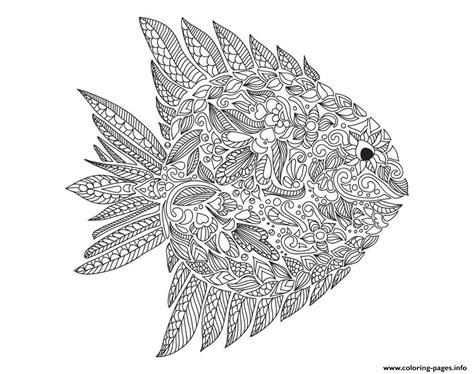 Adult Zentangle Fish By Artnataliia Coloring Pages Printable Fish Coloring Pages For Adults