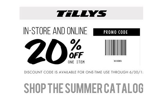 tillys coupon 2018 in store